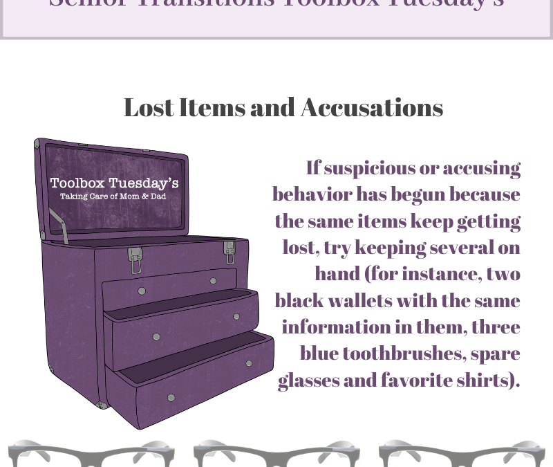 Lost Items and Accusations for Aging Parents and Grandparents with Dementia or Cognitive Decline