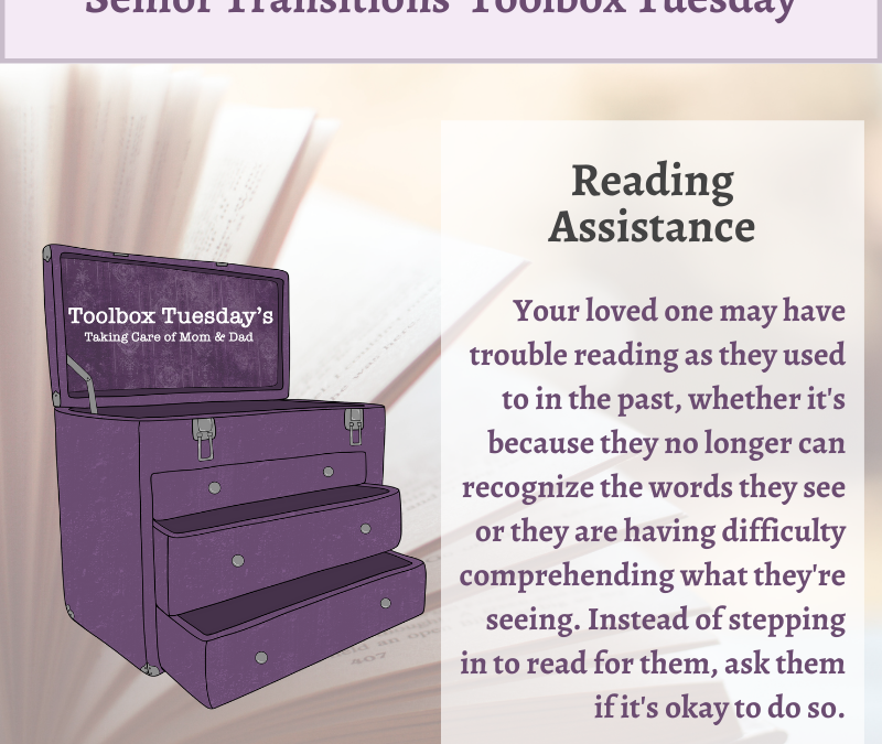 Reading Assistance for Aging Parents and Grandparents with Cognitive Decline or Dementia