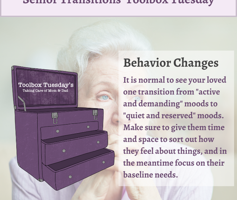 Behavioral Changes in Aging Parents and Grandparents with Cognitive Decline or Dementia